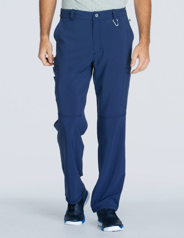 Men's Zip Fly Cargo Scrub Pant