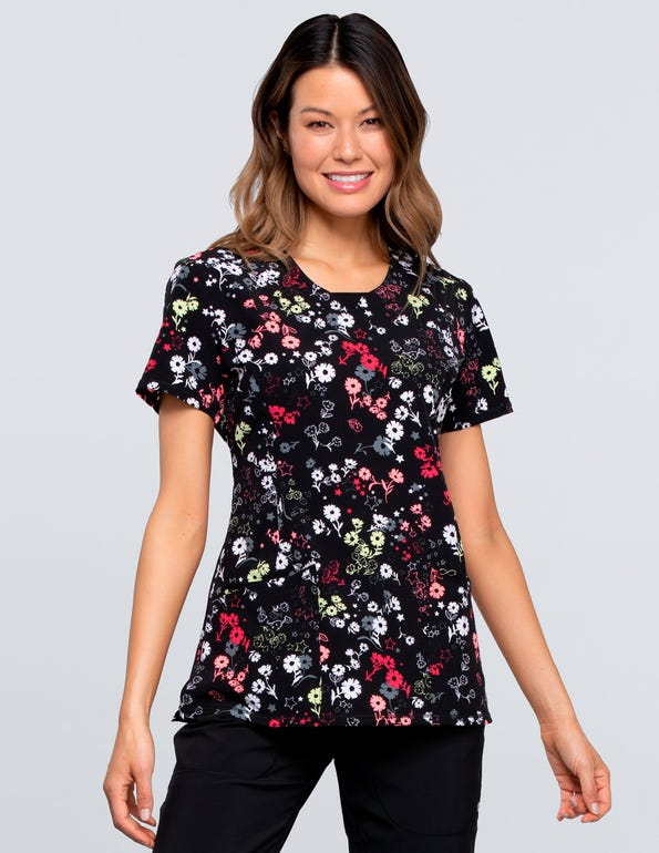 Blossoms For Days Round Neck Top